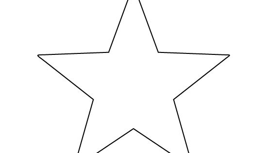 Printable Full Page Large Star Pattern. Use The Pattern