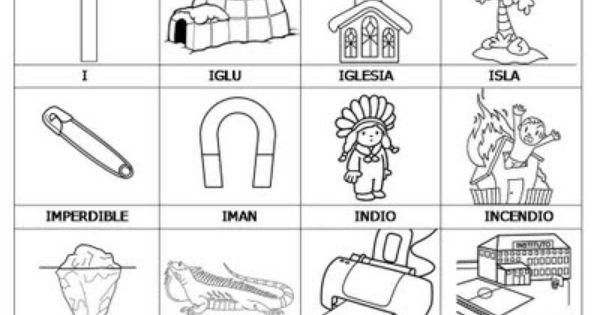 COLOREA TUS DIBUJOS: Laminas con dibujos para aprender palabras y ...