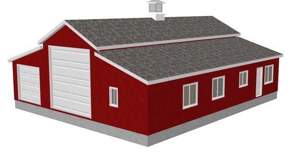 barn ideas   RV Workshop Apartment Barn Plans   Free House Plan ...