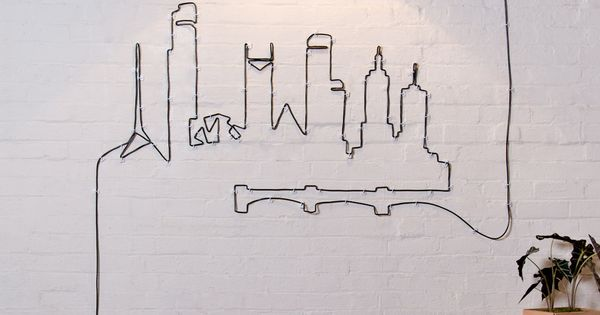 Cords as wall art? Genius. decoration homedecor wallart