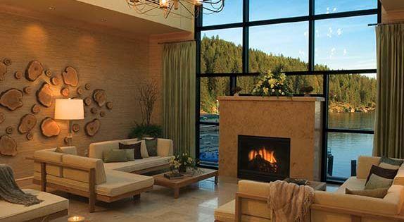 beautiful room...love the view & sky light windows