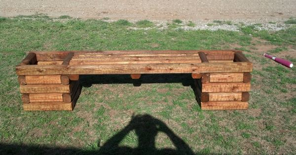 4 Foot Bench Double Planter Landscaping Timber Planters