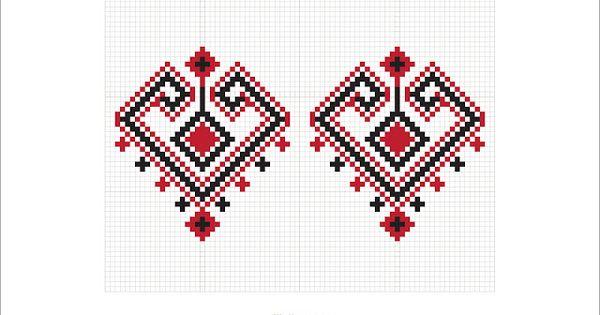 Semne Cusute Romanian Traditional Motifs Romanian Traditional Embroidery Pinterest