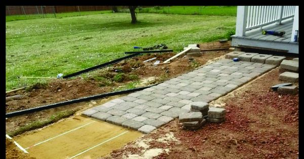 How To Build A PaveStone Home Entranceway Walkway With Brick Pavers DIY | RemoveandReplace.com