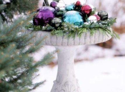 Birdbath idea for winter...now if we only had snow!