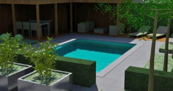 Overdekt terras en zwembad veranda en tuin inspiratie pinterest verandas - Outdoor decoratie zwembad ...