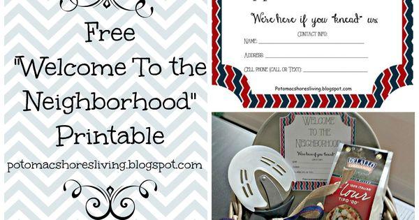 free  u0026quot welcome to the neighborhood u0026quot  printable