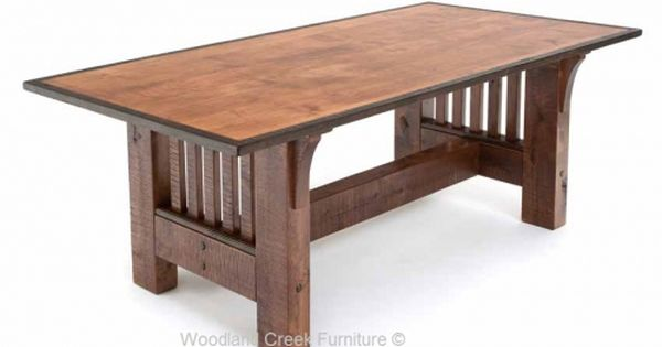 Refined Rustic Dining Table Available At Woodland Creek Furniture In Custom Sizes Refined