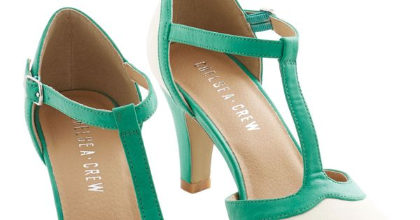 Jade Upgrade Heel. Enhance a floral print frock with the remarkable tones