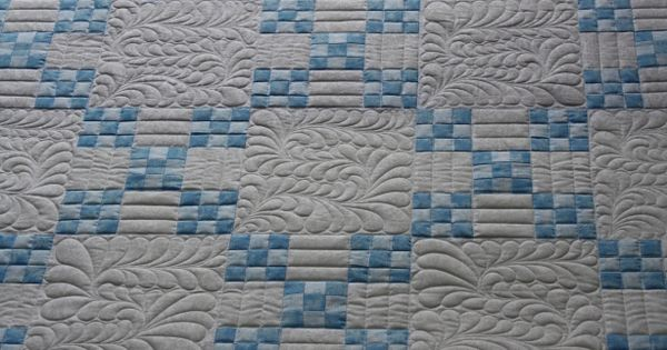 Irish-Chain-Quilt - nice non-traditional treatment. Like it a lot. Beautiful Quilting ...