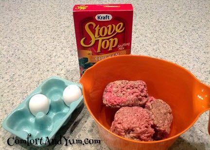 Three Ingredient Meatloaf Recipe Three Ingredient Recipes Meat Loaf Recipe Easy Three Ingredient