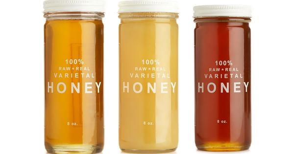 Love this simple packaging for Bee Raw Honey @Sorina Robu