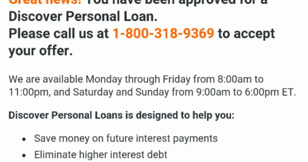 Discover Personal Loans Apply