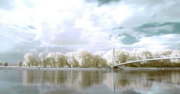 Osijek On Drava River Croatia Snow