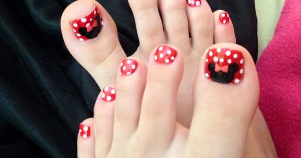 Mickey Mouse Toe Nail Designs Minnie Mouse Toe Nail ...