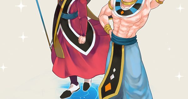 vegeta and goku dressed as whis and beerus nimez