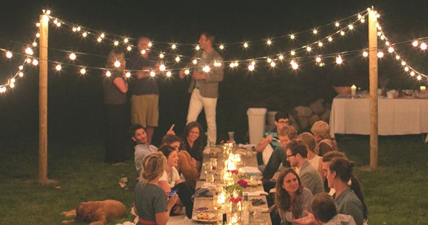 outdoor dinner party inspiration