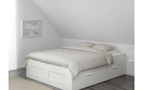 Brimnes Bed Frame With Storage Black Luroy Ikea Brimnes Bed Frame With Storage Queen Luroy White Ike In 2020 Bed Frame With Storage Brimnes Bed Bed Frame