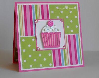 Birthday card ideas. Cute cupcake card to try