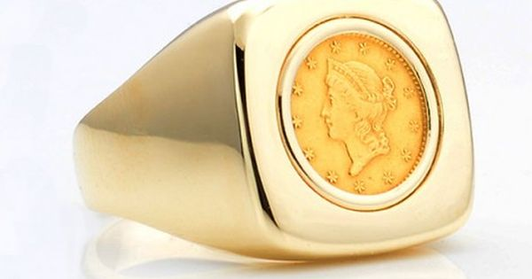 Image Result For Gold Ginni Ring Design Coin Ring Coin Jewelry Gold Coin Ring