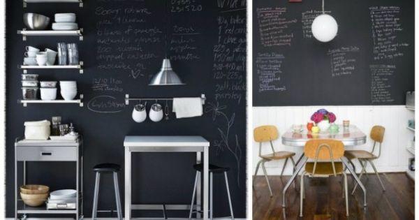 cuisine decoration peinture tableau noir. Black Bedroom Furniture Sets. Home Design Ideas