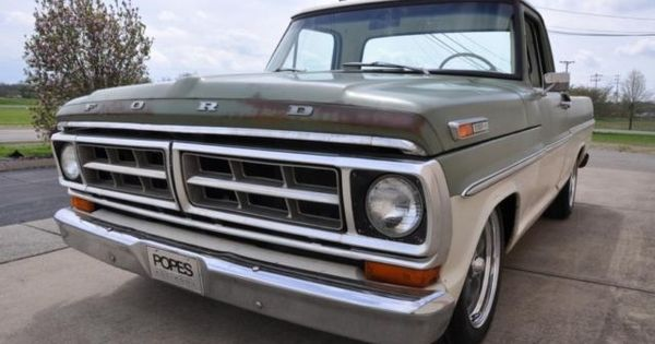 1971 Ford F100 Swb Shop Truck Patina Hot Rat Rod Show Lowered