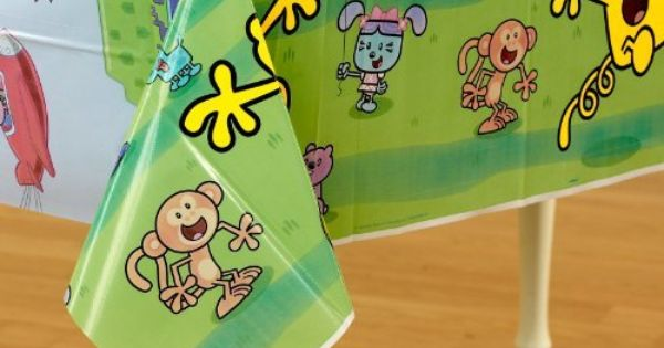 Wow Wow Wubbzy Plastic Tablecover By Unique Industries