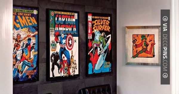 Man Caves Book : Comic book man cave wainscotingamerica mancave