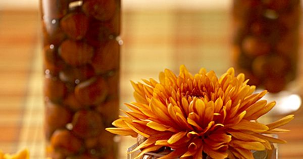 Thanksgiving table decoration ideas flowers vase