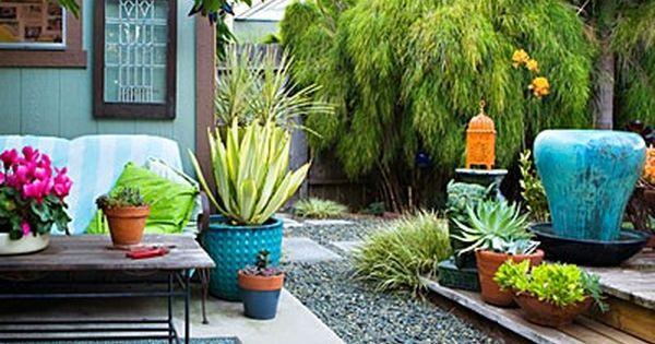 color outdoors | turquoise & orange | gardening decor