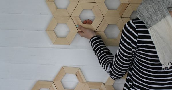 Diy honeycomb wall art cute pinterest decoraci n for Carpinteria moderna