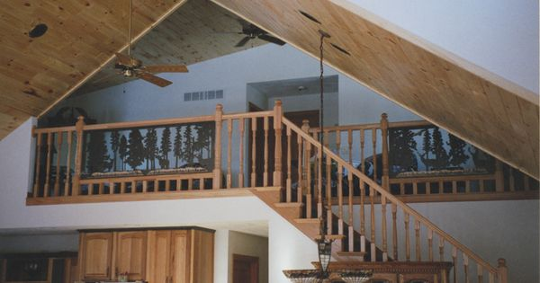 Silouhette Panels In Stair Railings And Stair Panels
