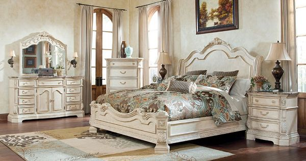 The Exquisite Old World Beauty Of The Ortanique Sleigh Bedroom Set By Millennium By Ashley