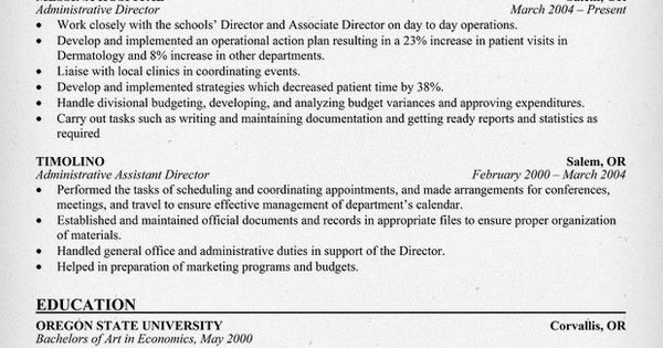 how to write an administrative director resume