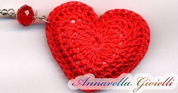 Tutorial Uncinetto Cuore Amigurumi : Tutorial cuore 3D alluncinetto. Crochet heart ...