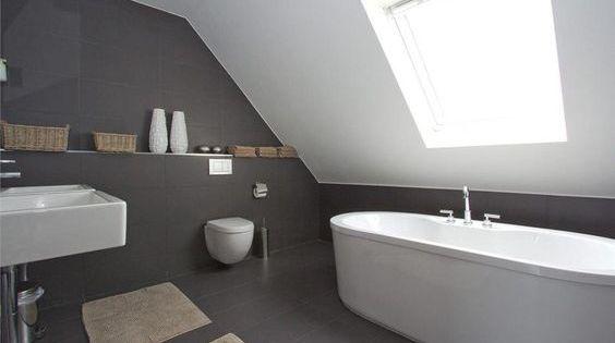 Afbeeldingsresultaat voor badkamer schuine wand badkamers pinterest search and wands - Outs badkamer m ...