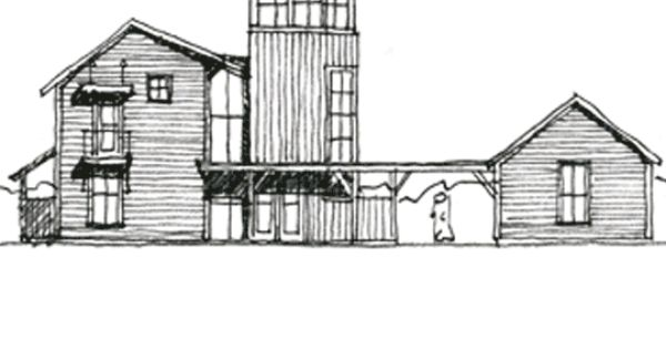 Estes twombly architects barker house sketch pinterest for Estes twombly architects