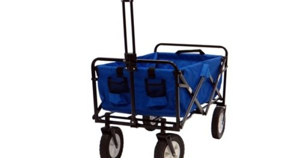 Blue Mac Sports Collapsible Folding Utility Wagon Garden Cart Shopping Beach Mac Sports Http Www Amazon Com Dp B00bu Utility Wagon Folding Wagon Outdoor Cart