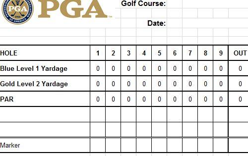 Golf Scorecard Template Excel Golf Scorecard Golf Score Card Template