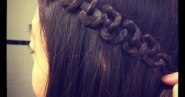 Snake braid - Do a regular 3 strand braid and once you