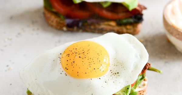 Avocado BLT's with Spicy Mayo and Fried Eggs | Pinterest ...