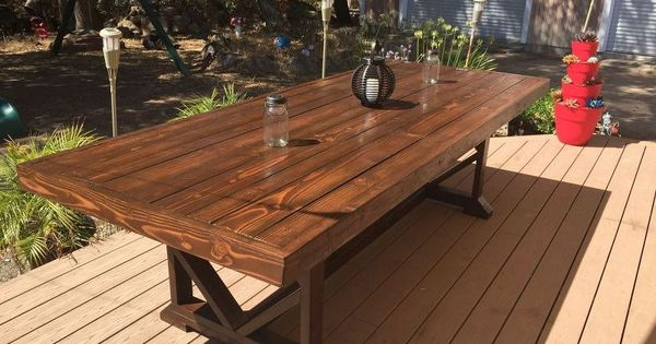 Diy Large Outdoor Dining Table Seats 10 12 Diy Outdoor
