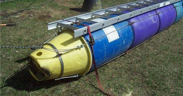 Plastic Barrel Pontoon Boat Imageboard Barrel Boat