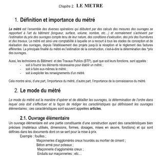 Comment Realiser Un Metre Btp Cours Genie Civil Www Joga C La Cours Exercices Corriges Et Videos Lecture De Plan Genie Civil Cours Genie Civil