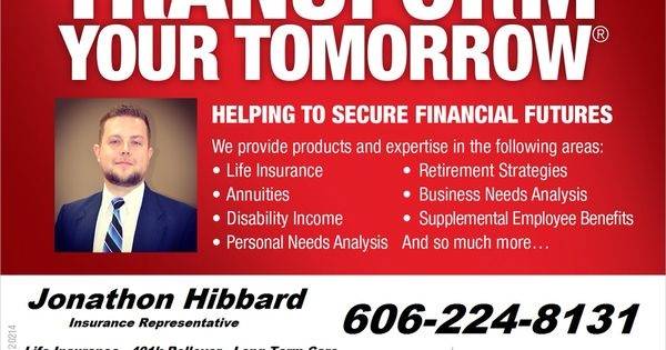 Looking to purchase Life Insurance Give me a call I can help 606 - needs analysis