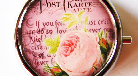 Pill boxes, Flower and Etsy on Pinterest