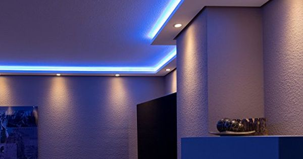 Stuckleisten bzw. Lichtprofile für indirekte Beleuchtung von Wand ...