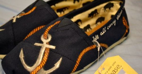 anchor, nautical shoes, Tom's shoes, shoes, cute, anchor shoes