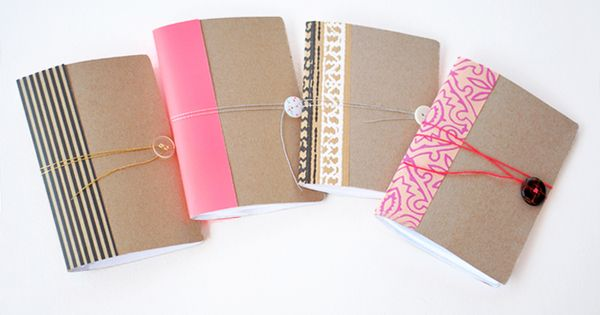 Crème de la Craft | DIY projects made from everyday objects. Notebooks