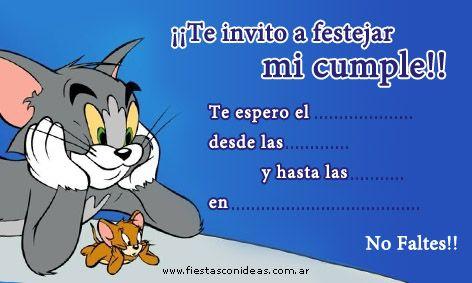 Tarjeta De Cumpleaños De Tom Y Jerry Tarjetas De